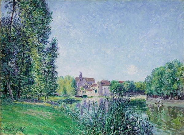 The Loing and the Church at Moret, 1886 | Alfred Sisley | Painting Reproduction
