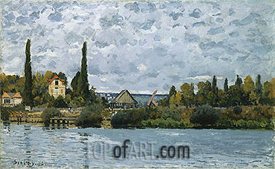 The Seine at Bougival, 1873 | Alfred Sisley | Painting Reproduction