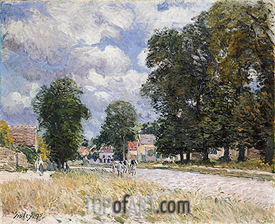Alfred Sisley | The Road to Marly-le-Roi, 1875