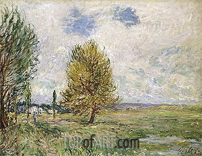 The Plain at Veneux-Nadon, 1881 | Alfred Sisley | Painting Reproduction