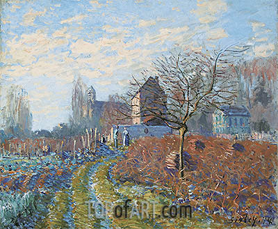 Gelee Blanche - Summer of St. Martin, 1874 | Alfred Sisley| Painting Reproduction