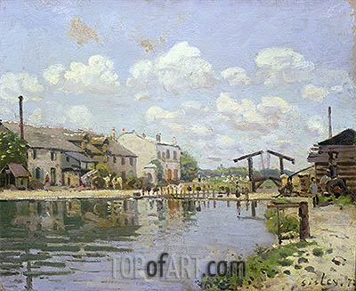 The Canal Saint-Martin, Paris, 1872 | Alfred Sisley| Painting Reproduction