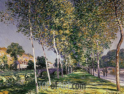 The Walk, 1890 | Alfred Sisley| Painting Reproduction