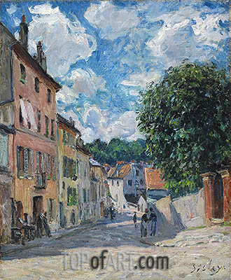 A Street in Port-Marly, 1876 | Alfred Sisley | Gemälde Reproduktion