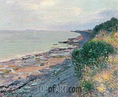 The Cliff at Penarth, Evening, Low Tide, 1897 | Alfred Sisley | Gemälde Reproduktion
