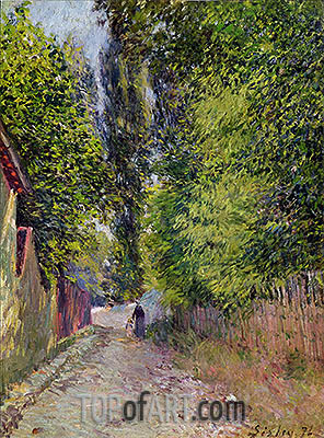 Landscape near Louveciennes, 1876 | Alfred Sisley | Painting Reproduction