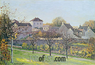 The Last Ray of Sun, 1873 | Alfred Sisley | Painting Reproduction