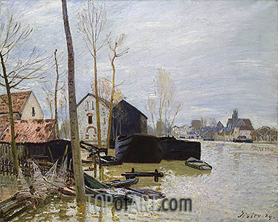 Alfred Sisley | The Floods at Moret, 1889