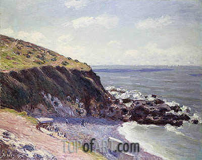 Lady's Cove, Langland Bay, 1897 | Alfred Sisley | Painting Reproduction