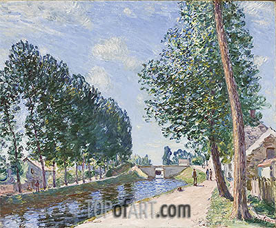 The Loing Canal at Moret, c.1892 | Alfred Sisley | Painting Reproduction