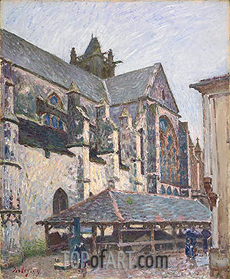 The Church at Moret in the Rain, 1894 | Alfred Sisley | Painting Reproduction
