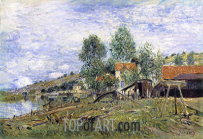 Boatyard at Saint-Mammes, 1886 | Alfred Sisley | Painting Reproduction