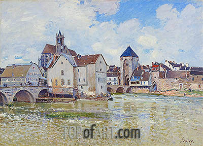 The Bridge at Moret, 1888 | Alfred Sisley| Gemälde Reproduktion