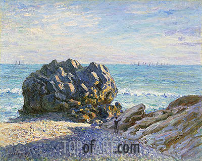 Storr Rock, Lady's Cove, Evening, 1897 | Alfred Sisley| Painting Reproduction