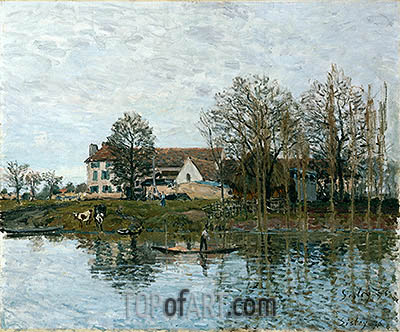The Seine at Port-Marly, 1875 | Alfred Sisley | Gemälde Reproduktion