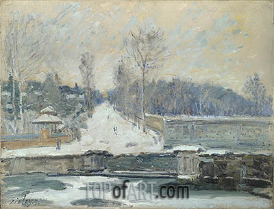 The Watering Place at Marly-le-Roi, c.1875 | Alfred Sisley | Painting Reproduction