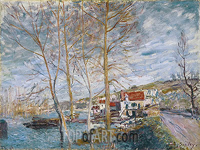 Flood at Moret, 1879 | Alfred Sisley | Painting Reproduction