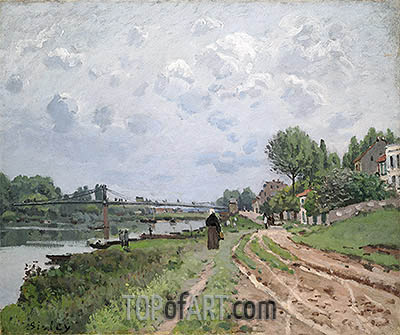 The Bridge at Villeneuve-La-Garenne, 1872 | Alfred Sisley | Gemälde Reproduktion