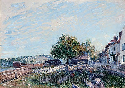 Alfred Sisley   Saint Mammès - Morning, 1884