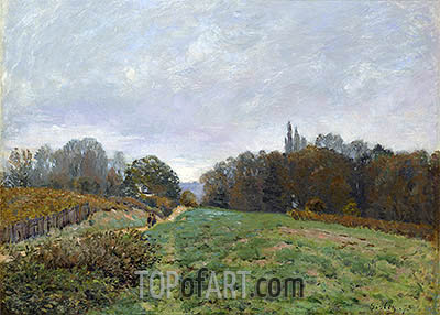 Landscape at Louveciennes, 1873 | Alfred Sisley| Painting Reproduction