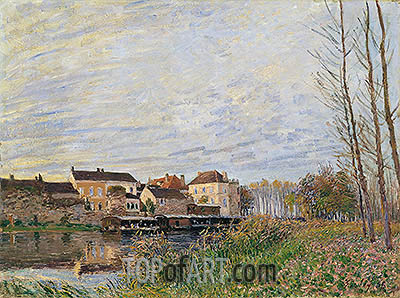 Evening in Moret, End of October, 1888 | Alfred Sisley| Painting Reproduction