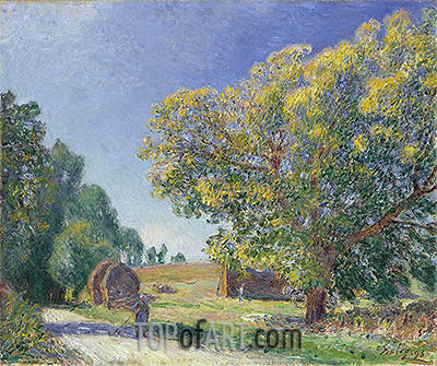 A Forest Clearing, 1895 | Alfred Sisley| Painting Reproduction