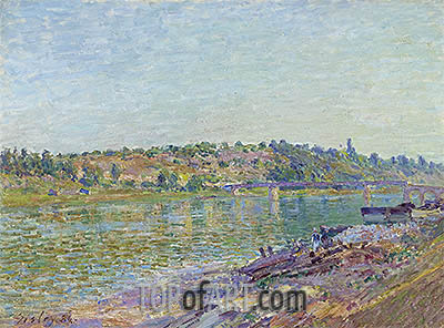 The slopes of the Celle-Sous-Moret, seen from St. Mammes, 1884 | Alfred Sisley| Painting Reproduction