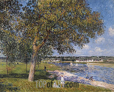 Walnut in a Meadow Thomery, 1880 | Alfred Sisley | Painting Reproduction