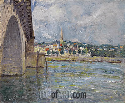 The Bridge of St. Cloud, 1877 | Alfred Sisley | Painting Reproduction