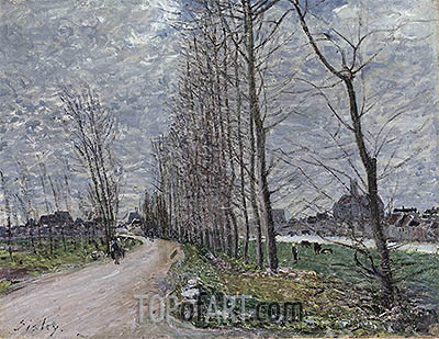 View of Moret-sur-Loing, 1890 | Alfred Sisley | Painting Reproduction