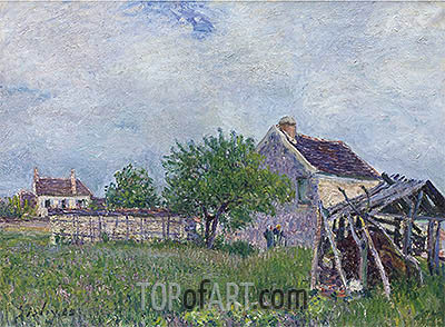 The Old Cottage at Sablons, 1885 | Alfred Sisley| Gemälde Reproduktion