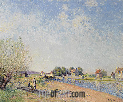 The Canal of Loing at Saint-Mammes, 1885 | Alfred Sisley | Painting Reproduction