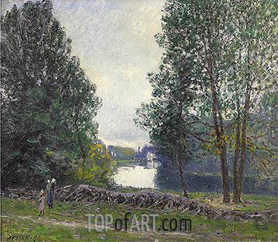 Banks of the Loing, 1896 | Alfred Sisley| Painting Reproduction