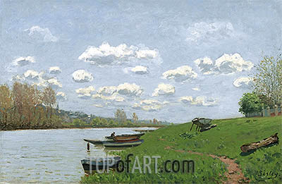 The Seine at Argenteuil, c.1870 | Alfred Sisley | Painting Reproduction