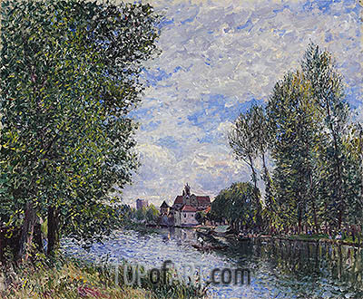 Summer at Moret, 1888 | Alfred Sisley | Painting Reproduction