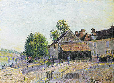 Landscape near Moret, 1884 | Alfred Sisley| Painting Reproduction