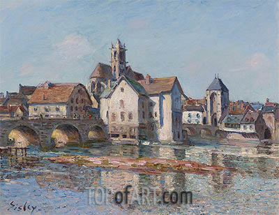 The Bridge at Moret, 1892 | Alfred Sisley| Painting Reproduction