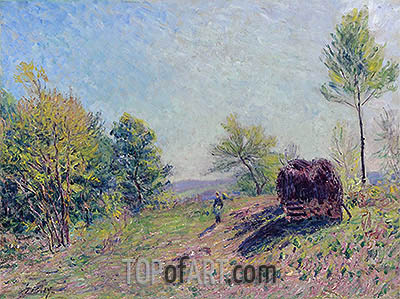 Woods in Spring, 1886 | Alfred Sisley | Painting Reproduction