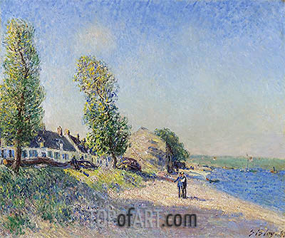 Saint-Mammès Morning, 1885 | Alfred Sisley| Painting Reproduction
