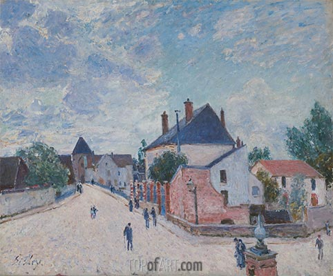 Street in Moret, c.1890 | Alfred Sisley | Painting Reproduction