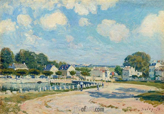 Watering Place at Marly, 1875   Alfred Sisley   Painting Reproduction