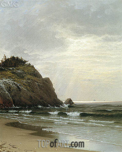 Alfred Thompson Bricher | Cloudy Day, 1871