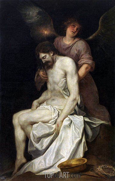 Alonso Cano | The Dead Christ held by an Angel, c.1646/52