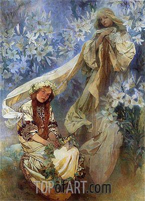 Alphonse Mucha | Madonna of the Lilies, 1905
