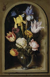 Bouquet of Flowers in a Niche, undated by Ambrosius Bosschaert | Painting Reproduction