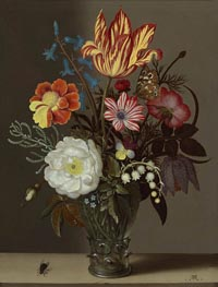 Still Life of Flowers in a Glass Roemer, undated by Ambrosius Bosschaert | Painting Reproduction