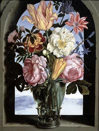 Still Life of Flowers in a Drinking Glass | Ambrosius Bosschaert | outdated