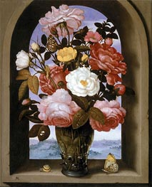 Still Life with Roses in a Berkemeijer Glass | Ambrosius Bosschaert | outdated