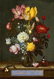 Bouquet of Flowers in a Glass Vase | Ambrosius Bosschaert | Gemälde Reproduktion