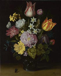 Flowers in a Glass Vase | Ambrosius Bosschaert | Gemälde Reproduktion